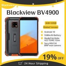 Orijinal Blackview BV4900 Android 10 sağlam su geçirmez Smartphone 3GB + 32GB IP68 cep telefonu 5580mAh 5.7 inç NFC cep telefonu