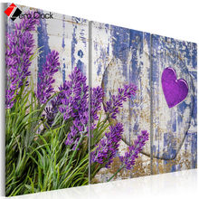 3 Pieces Flowers Canvas Painting Modern Wall Art Lawender Posters and Prints Wall Pictures for Living Room Poster Nordic Style(China)