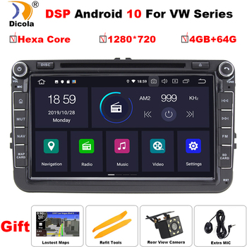 PX6 DSP Car Multimedia player Android 10 GPS 2 Din Car Autoradio Radio For VW/Volkswagen/Golf/Polo/Passat/b7/b6/SEAT/leon/Skoda image