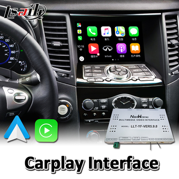 Lsailt Wireless Carplay Interface for Infiniti QX70 2013-2017 Year Wired Android Auto Youtube Video Music Play image