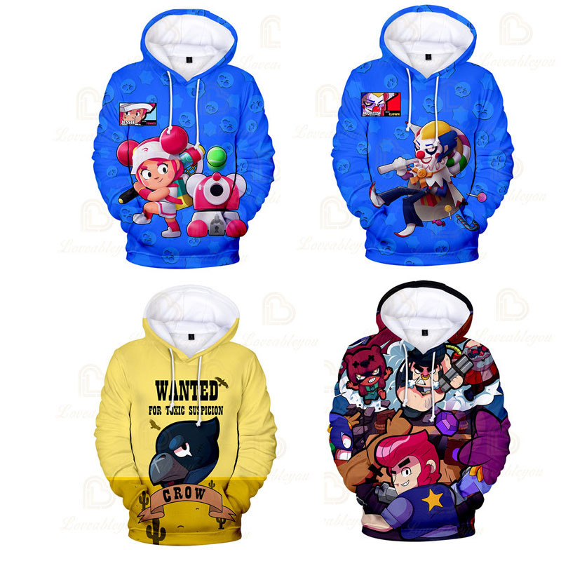 3 To 14 Years Kids Boys Girls 3D Shooter Game Stars Cartoon Heroes Hoodie Cartoon Shooting Hoodie Kids Birthday Gift image
