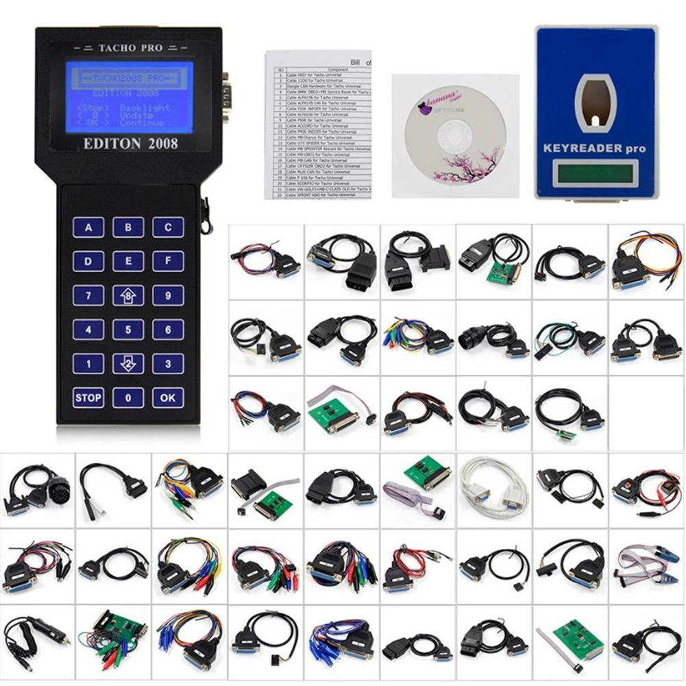 NEW Version KM Tools Tacho Pro 2008 Unlock Tacho Pro Odometer Mileage Correction Dash Programmer No Token Diagnostic Tool