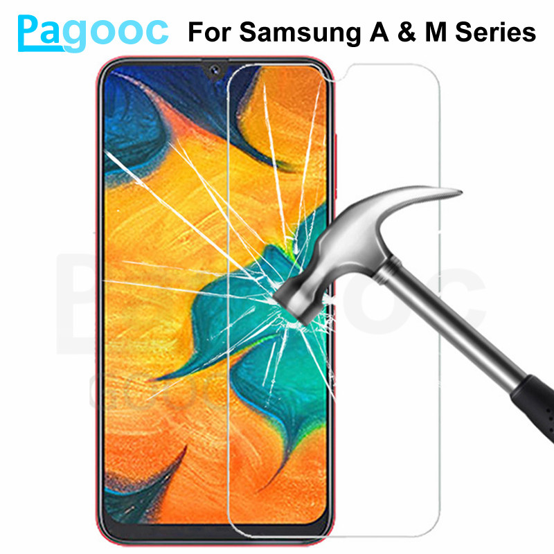 9H Tempered Glass On For Samsung Galaxy A10 A20 A30 A40 A50 A60 A70 A80 A90 Glass M10 M20 M30 M40 Screen Protective Safety Film