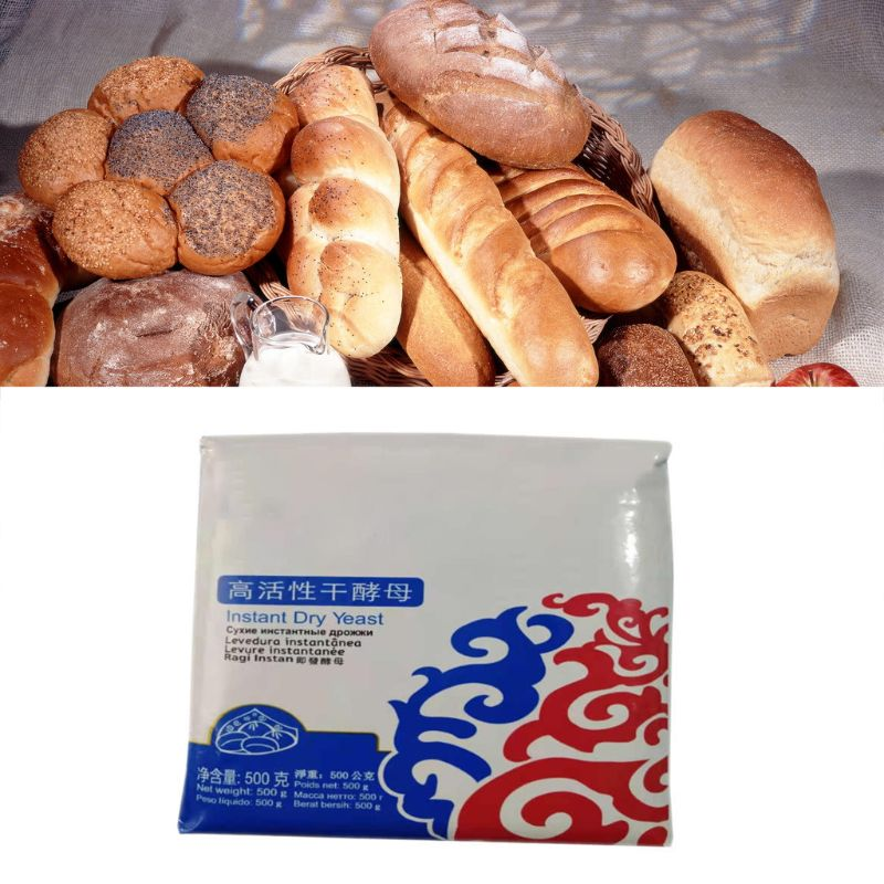 500g Highly Active Instant Dry Yeast Powder High Glucose Tolerance Baking Supply