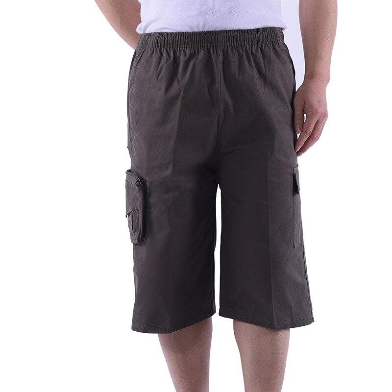 Summer Men Middle-aged Plus-sized Capri Pants Cotton Shorts Shorts Casual Pants Men'S Wear Workwear Pants