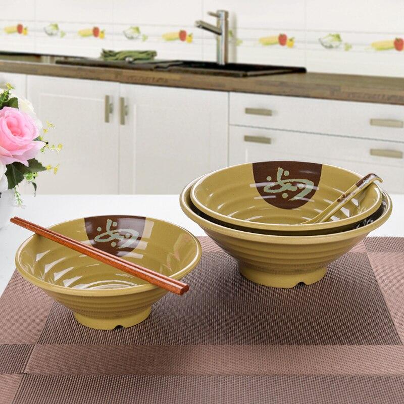 メラミン模造磁器プラスチック食器和風千ラーメンボウル如意糸大丼スープ