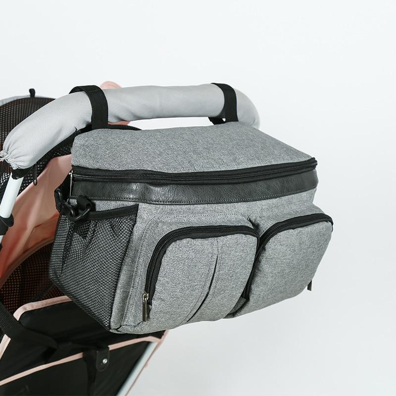 SeckinDogan Baby Stroller Bag Multifunction Diaper Bags Large Capacity Baby Nursing Organizer Travel Hanging Carriage Mommy Bags