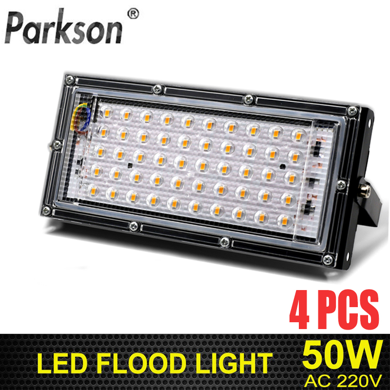 4pcs 50W Led Flood Light AC 220V-240V Outdoor Lighting Waterproof IP65 Reflector Led Spotlight Projector Led FloodLights