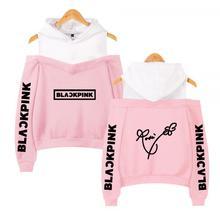 BLACKPINK In Womens Off-shoulder Sexy Girls Hoodies Sweatshirt Exclusive Kpop Casual Autumn Cool Custom