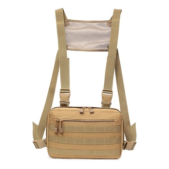 Men Hip Hop Chest Rig Waist Pack Tactical Bag Molle EDC Pouch Streetwear Shoulder Outdoor Sports Hunting Military Bags