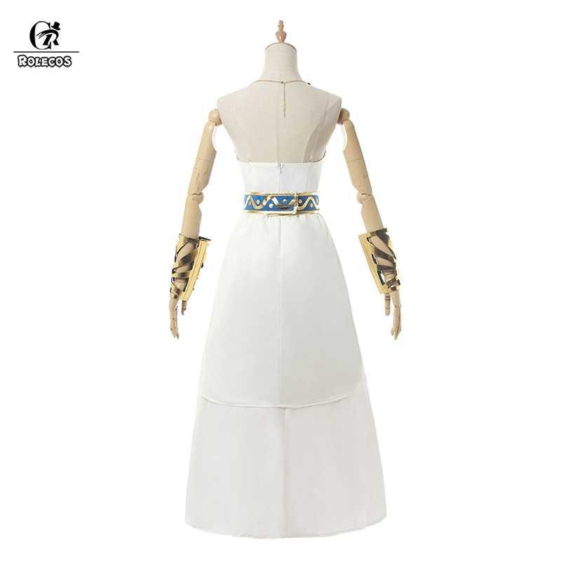 Rolecos Prinses Zelda Cosplay Kostuum Game The Legend Of Zelda Adem Van De Wilde Cosplay Halloween Kostuum Vrouwen Witte Jurk