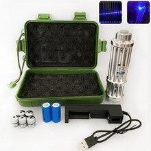 Alta potência b017 ponteiro de luz laser azul caneta ensino tático lanterna com jogo ardente para a caça caminhadas visão laser