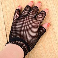 Gloves Fingerless Wedding Women Short Wrist Clubwear Fishnet-Wrist-Length Dance Party