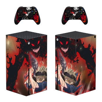 Black Clover Skin Sticker Decal Cover for Xbox Series X Console and 2 Controllers Xbox Series X Skin Sticker Vinyl 1