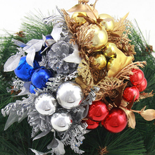 Mini Artificial Pine Cone Auspicious Fruits Branch For DIY Xmas Party Christmas Tree Ornaments Branches Decoration