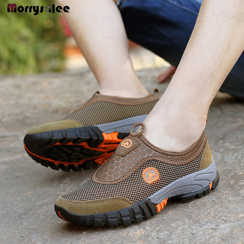 2020 Summer Slip-On Mesh Sneakers Men Shoes Outdoors Breathable Comfortable Male Shoes Loafers Casual Walking Footwear