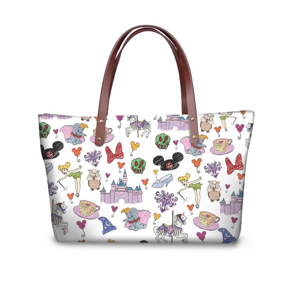HaoYun Cartoon Mouse Cute Purses & Handbags Women Large Messenger Bags Women's Big Shoulder Bag Female Girls Totes Bag Zipper
