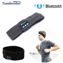 Tiandirenhe Wireless Bluetooth Sleep Headphone Headband Hat Soft Warm Sports Smart Cap Smart Speaker Stereo Headset with Mic