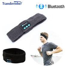 Tiandirenhe diadema inalámbrica con Bluetooth para auriculares, gorro deportivo suave y cálido, altavoz inteligente estéreo con micrófono