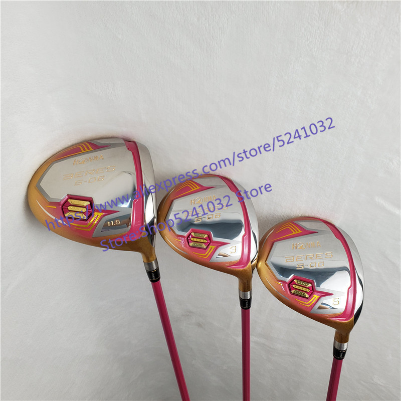 New Golf Clubs HONMA S-06 4star Compelete Club Set Driver 3/5 Fairway Wood  Graphite Golf Shaft