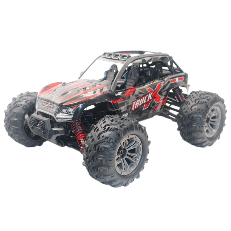 9137 1/16 2.4G 4Wd 36Km/H Rc Car W/ Led Light Desert Off-Road Monster Truck Rtr Toy