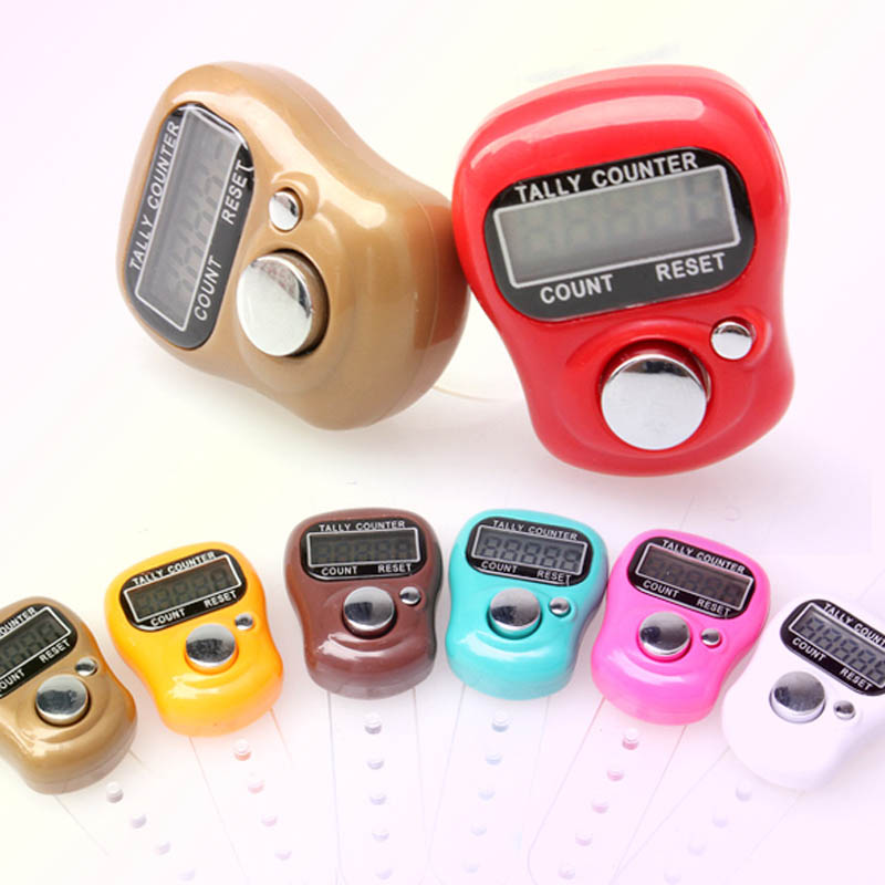 1pcs Handheld Digit Display Electronic Counter Hand LCD Screen Held Tally Counter Finger Mini Clicker Counter For Sports Running