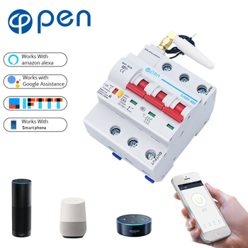 OPEN 3P 40A-100A Remote Control Wifi Circuit Breaker/smart switch/ Intelligent automatic Recloser support alexa and google
