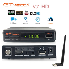 DVB-S2 V7s hd With USB WIFI 1 year cccam spain TV Receiver gtmedia v7 power by freesat Support Europe cline Network Sharing