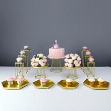 Cake-Stand Macaron Dessert-Table Tea-Break-Decoration Birthday-Party Metal for 3-13pcs