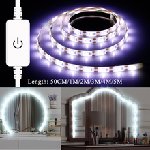 USB Makeup Mirror Wall Lamp with Touch Dimmable Switch Vanity Light 220V EU US Plug Dressing Table Led Strip