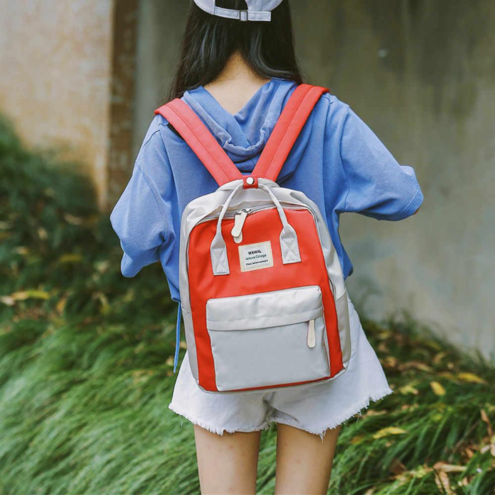 נשי תרמיל אופנה נשים תלמידות בד כתף תיק בית ספר תיק נסיעות Tote תרמיל מוצ 'ילאס mujer 2019 # T3G