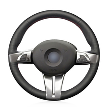 цена на Hand-stitched Black Artificial Leather Anti-slip Soft Comfortable Car Steering Wheel Cover for BMW Z4 2003 2004 2005 2006