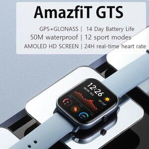 Image 2 - Умные часы Amazfit GTS, глобальная версия, водонепроницаемые до 5 АТМ, 14 дней автономной работы, GPS, спортивные часы huami для телефонов xiaomi и IOS