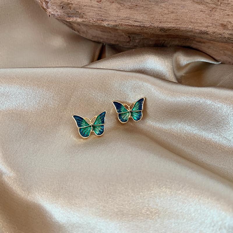 Sweet butterfly small fresh super sensen small earrings for  women wholesale