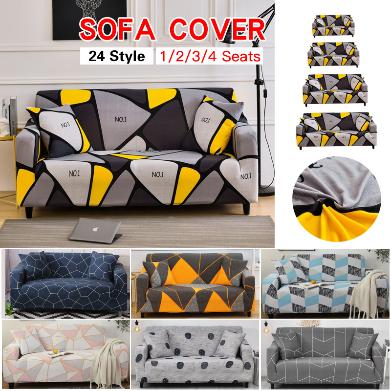 Modern Elastic Sofa Cover Sofa Couch Cover Slipcovers Chair Protector Sofa Covers For Living Room Single/Two/Three/Four Seat