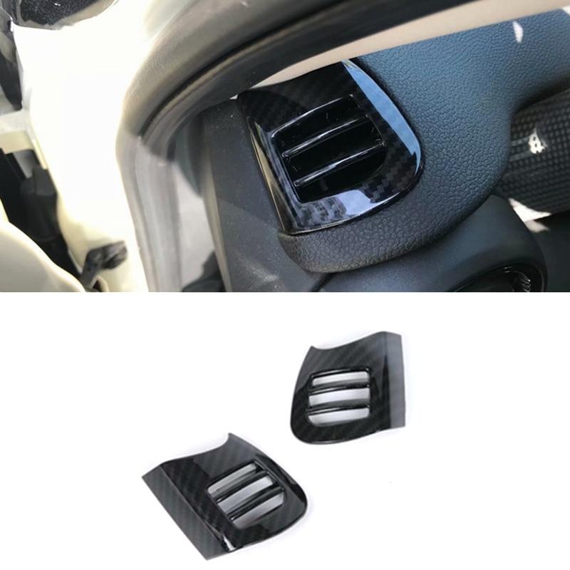 Otomobiller ve Motosikletler'ten Kapaklar  Rotorlar ve Kontaklar'de Araba Dashboard üst havalandırma kapağı çerçeve araba Trim Styling ABS aksesuarları Mini Cooper için F55 F56 F57 2015 2018 title=