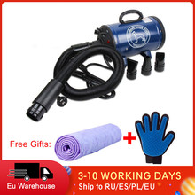Cão grooming secador de cabelo do animal de estimação cão gato grooming ventilador vento quente 2400w ue plug cor azul rosa BS-2400 navio da rússia