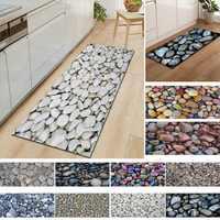 Alfombra de baño de guijarros simulados felpudo pasillo alfombra de baño alfombrilla de cocina alfombras de área modernas Decoración Para sala de estar