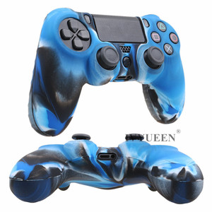 Image 5 - IVYUEEN Soft Silicone Rubber Case For Sony PlayStation Dualshock 4 PS4 DS4 Pro Slim Controller Skin Cover + 2 Thumb Grips Caps