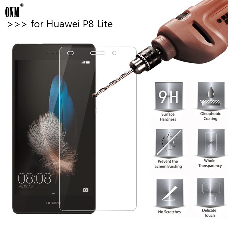 2.5D 0.26mm 9 H Premium Temperli Cam Için Huawei P8 Lite Ekran Koruyucu Huawei P8 Lite Için güçlendirilmiş koruyucu film Cam *
