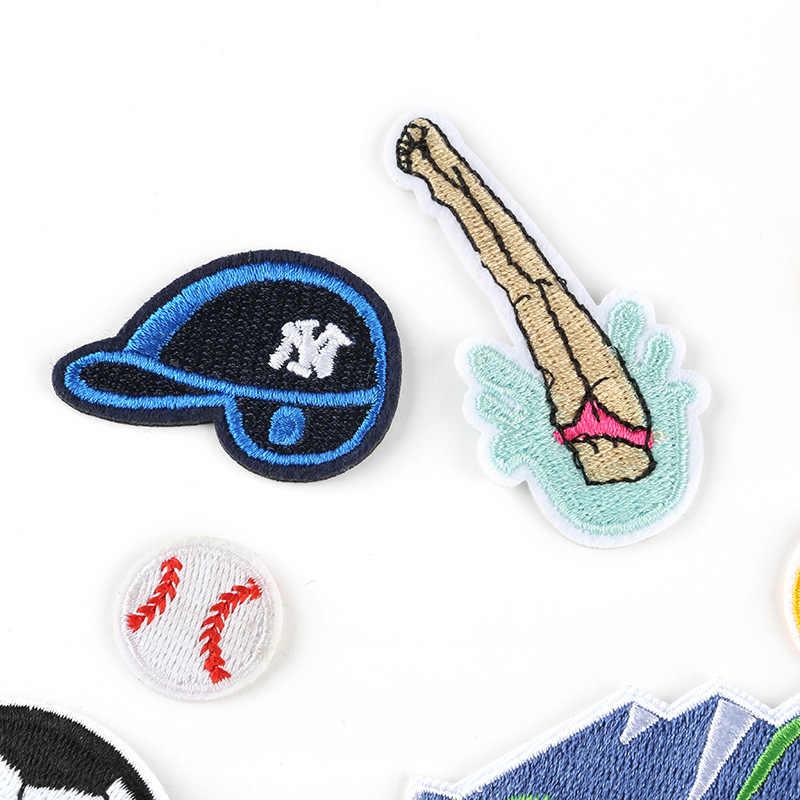 ZOTOONE łatka haftowana czapka z daszkiem piłka nożna sport seria żelazko na plastry na odzież DIY Stripe naszywka ubraniowa dla dzieci G