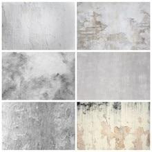 Laeacco branco cinza cimento parede gradiente cor grunge retrato fotografia backdrops fundos fotofone para comida fotozona