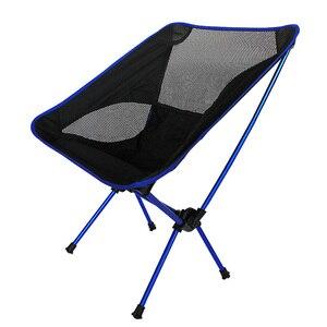 Image 3 - Chaise portative de maille dalliage daluminium de haute qualité pour la pêche Camping Sports de plein air chaises pliantes de Barbecue ultra léger