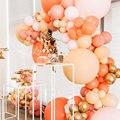 131 шт. арка для воздушных шаров с днем рождения Оранжевый латексные воздушные шары-гирлянды комплект свадебное розовое платье юбилей Свадеб...