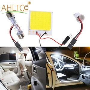 Multi-Colorful T10 C5W COB 48SMD LED Chip Reading Lamp Car Led Parking Bulb Auto Interior Panel Dome Festoon License Plate Light