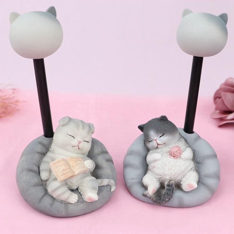 Ins Cute Pet Cat Night Light Star Lights Creative Animal Night Lamp For  Bedside Lamps Kids Girls Dormitory Bedroom Decor