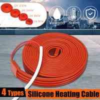 80 W/160 W/240 W/400 W cinta de calefacción autorreguladora de baja temperatura nieve drenaje de agua tubería de agua protección de congelación Cable de calor