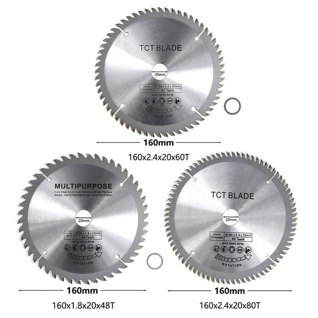 Durchmesser 160mm 48T Mutilfunction Holz Sägeblatt TCT Circluar Sägeblatt Für Holz 60T 80T Schneiden disc