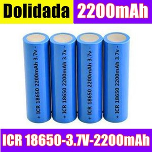 Icr18650 lithium battery 2200 mah 3.7 v li-ion rechargeable pkcell battery 18650 batteria flat top batteries without protection