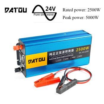 цена на 5000W Car Inverter 12v To 220v Voltage Converter Pure Sine Wave Charger Converter Power Adapter Transformer Rated 4000W
